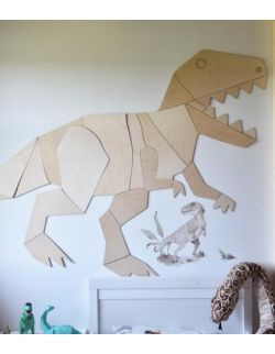 Dinozaur T-Rex dekoracja ścienna origami S