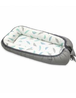 Kokon niemowlęcy Cottonwaffel Grey & Plumes