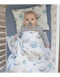 Starter niemowlęcy Blast Off: kokon + pościel + rożek