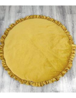 Mata dekoracyjna podłogowa Musztardowa
