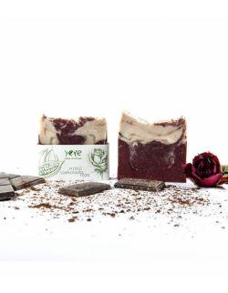 100% naturalne mydło ręcznie robione - czekolada + róża YEYE ok. 105 g
