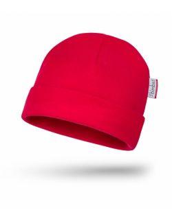 Bawełniana czapeczka niemowlęca - Czerwień BIMBS