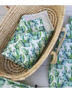 Starter niemowlęcy Kaktus: kokon + pościel + rożek