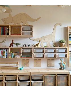 Dinozaur Diplodok dekoracja ścienna origami Rozmiar S