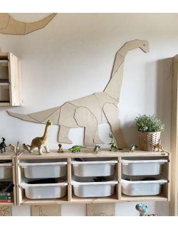 Dinozaur Diplodok dekoracja ścienna origami Rozmiar M