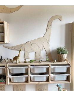 Dinozaur Diplodok dekoracja ścienna origami Rozmiar XXL