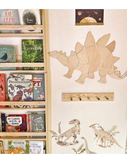 Dinozaur Stegozaur dekoracja ścienna origami Rozmiar M