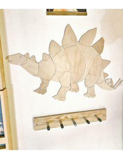 Dinozaur Stegozaur dekoracja ścienna origami Rozmiar XXL