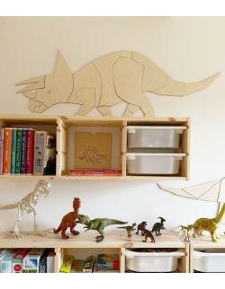 Dinozaur Triceratops dekoracja ścienna origami Rozmiar S