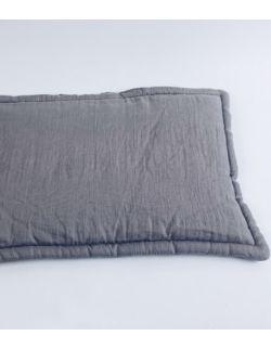 Lniana poduszka płaska szara