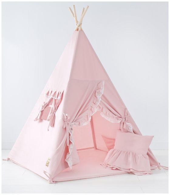 Namiot tipi dla dziecka Pinklowe - zestaw