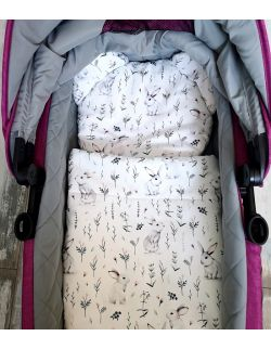 Komplet do wózka- Kocyk + Podusia