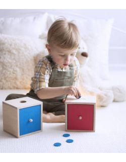 Szufladka na kulkę pomoc Montessori