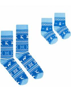 Zestaw 2 par skarpet z kolekcji fińskiej dla rodzica i dziecka