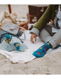 Zestaw 3 par skarpet z kolekcji francuskiej dla rodziców i dziecka