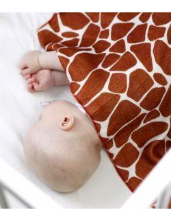 Bambusowa pieluszka otulacz - Żyraffa