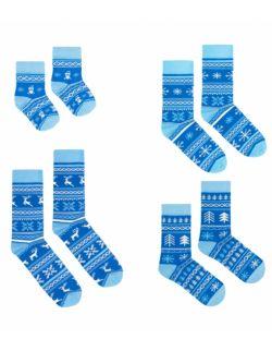 Zestaw 4 par skarpet z kolekcji fińskiej dla rodziców i dzieci
