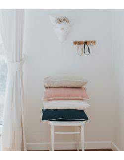 Lniana poszewka z bąbelkami 45x45 cm white/beige/pink/blue