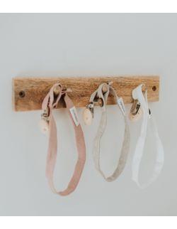Lniana zawieszka do smoczka white/beige/pink/blue