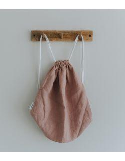 Lniany plecak / worek white/beige/pink/blue