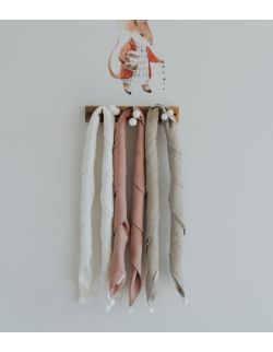 Lniany otulacz white/beige/pink/blue