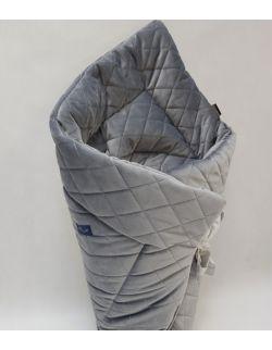 ROŻEK niemowlęcy 75x75 cm Ultra soft Velvet szary caro