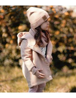 Płaszcz wiosenno-jesienny- orzech/beż