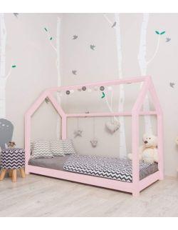 Łóżko domek Leo Różowy