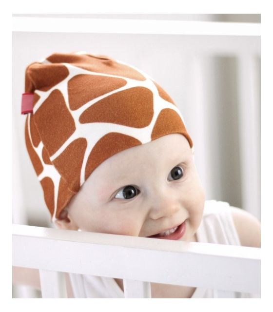 Bawełniana czapeczka niemowlęca - Żyraffa