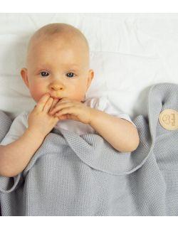 Bawełniany kocyk tkany 100% bawełny szary
