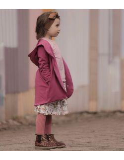 Bluza wiosenna dziewczęca-ciemny róż.