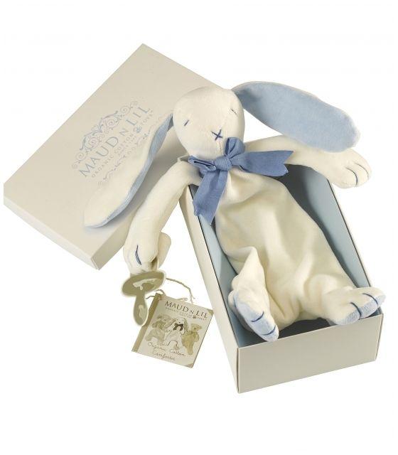 Przytulanka komforter z bawełny organicznej króliczek Oscar - Maud N Lil