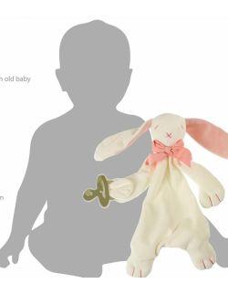 Przytulanka komforter z bawełny organicznej króliczek Rose - Maud N Lil