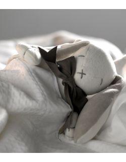 Przytulanka komforter z bawełny organicznej króliczek Ears - Maud N Lil