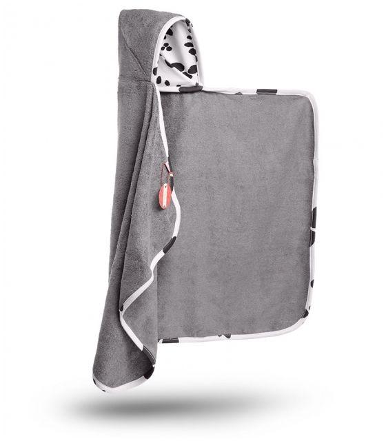 Bambusowy ręcznik z kapturkiem - Dalmatyńczyk