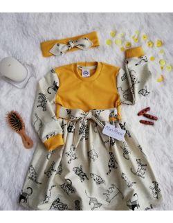 Sukienka z kokardą KOT