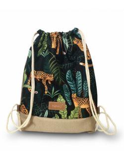 worko - plecak poliester (tygrysy - beżowy)