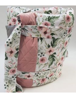Mata Piknikowa 150x 180 cm In Garden ultra soft velvet smoky róż pikowany caro