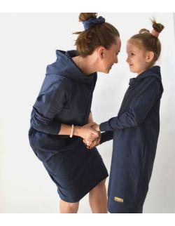 """Komplet mama i córka - przedłużone bluzy """"sprany jeans"""""""