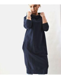 Przedłużona bluza, sukienka sportowa z kapturem - wersja standard