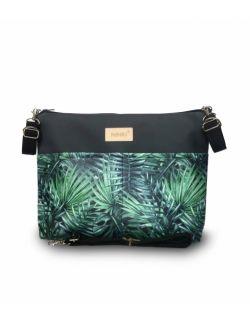 organizer do wózka ekoskóra NINKI® ( zielone liście palmowe )