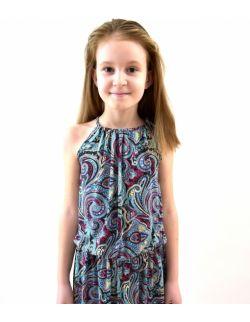 Energetyczna sukienka dla dziewczynki - Etno