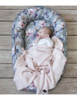 Starter niemowlęcy Floral: kokon + pościel + rożek