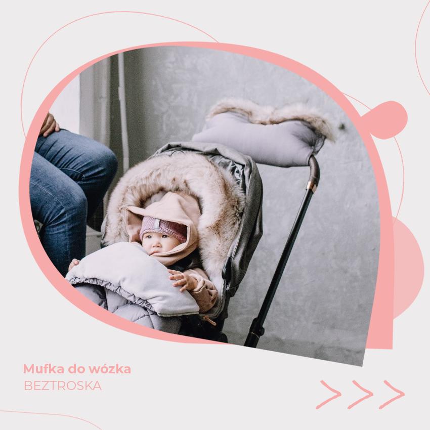 mufka do wózka dziecięcego zimowa beztroska