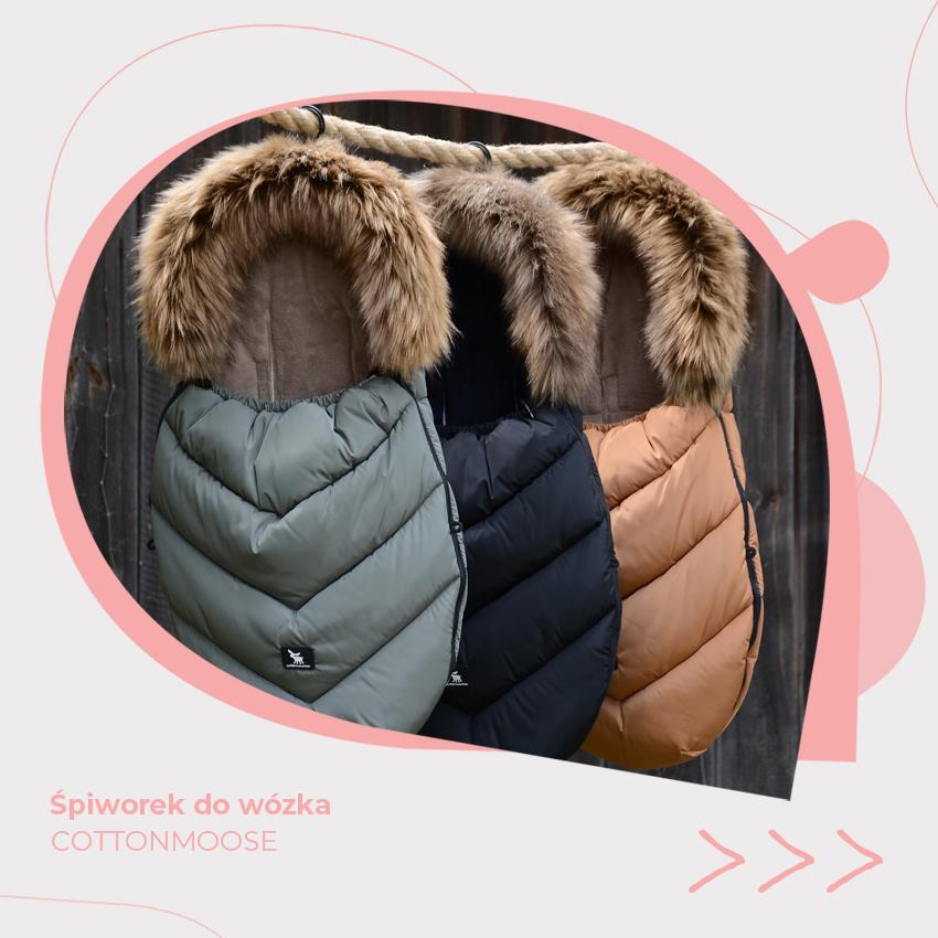śpiworek do wózków dziecięcych zimowy cottonmoose
