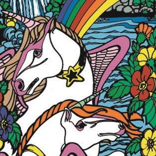 kolorowanka witrażowa jednorożec dla dzieci